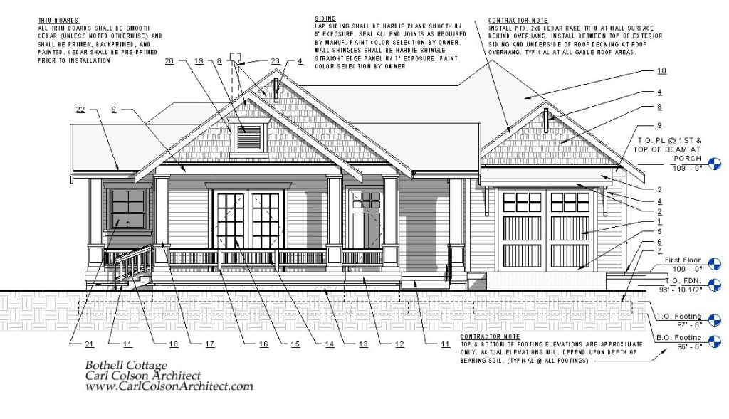 Adu Cottage Creating The Design Drawings Carl Colson