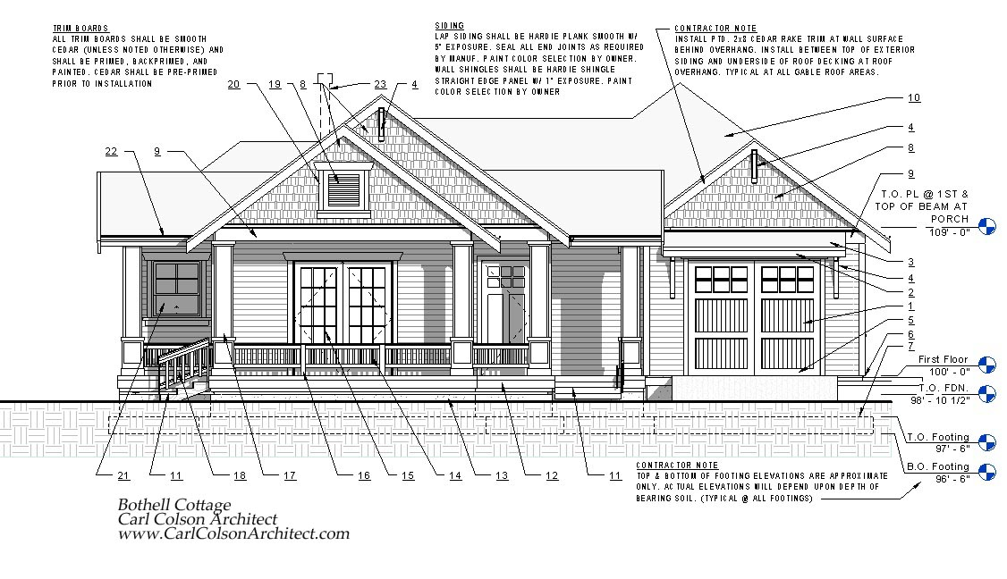 Adu cottage creating the design drawings carl colson for Adu house plans