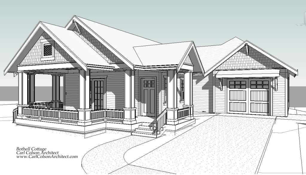 Adu cottage creating the design drawings carl colson for Accessory dwelling unit floor plans